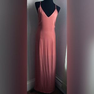 Tobi peach maxi dress